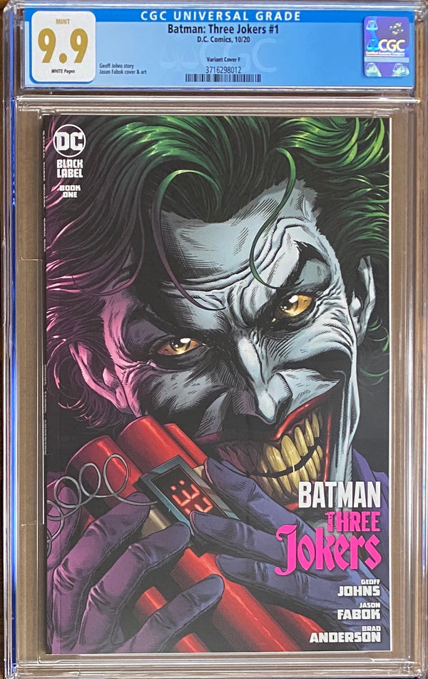 "Batman: Three Jokers #1 ""Joker Bomb"" Premium Variant DC Black Label CGC 9.9"