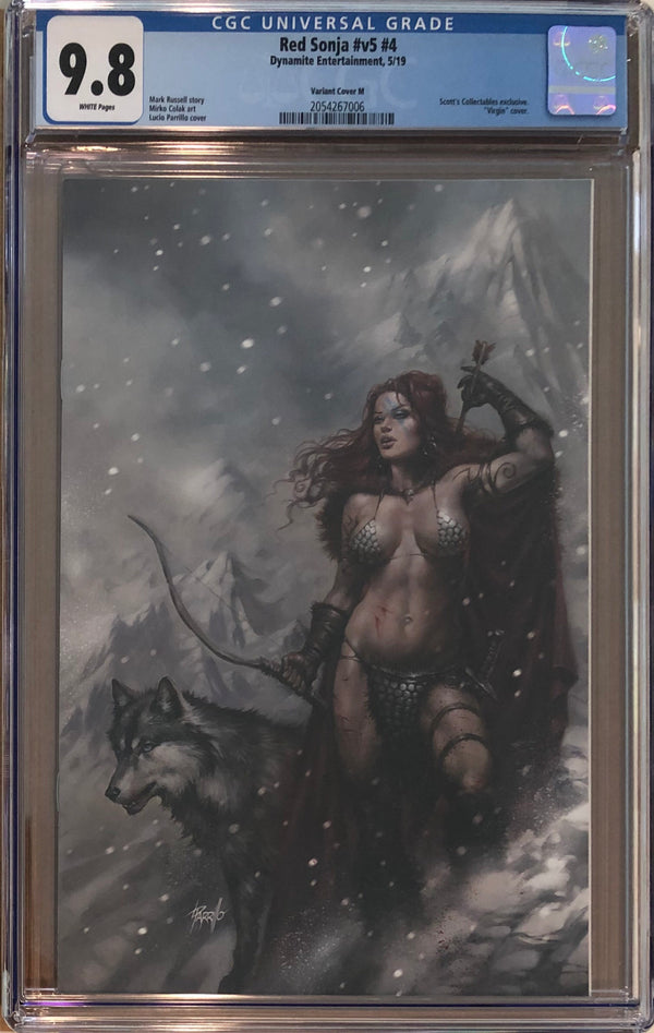 Red Sonja #4 Lucio Parrillo Convention Exclusive CGC 9.8
