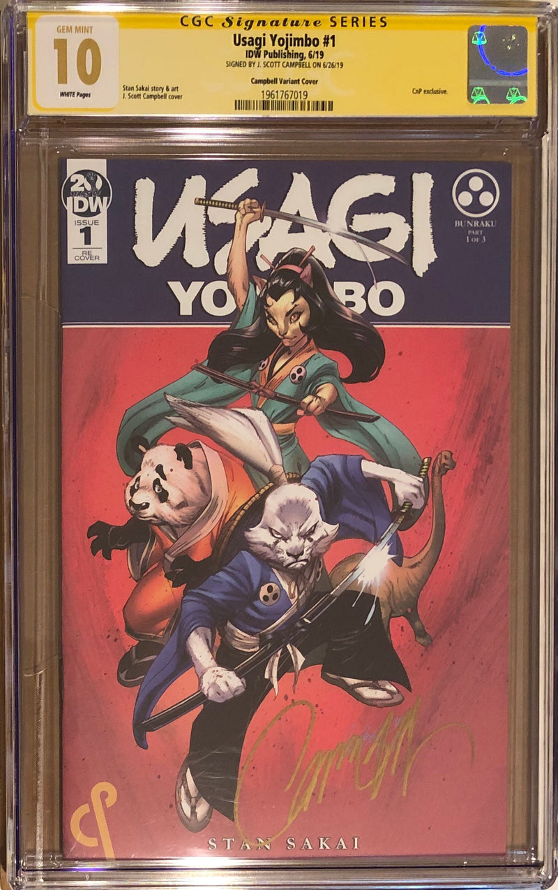 Usagi Yojimbo #1 J. Scott Campbell Exclusive CGC 10.0 SS