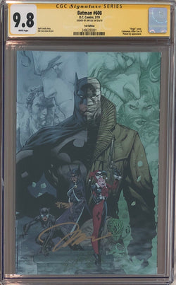 Batman #608 Jim Lee RRP Black Foil Exclusive CGC 9.8 SS