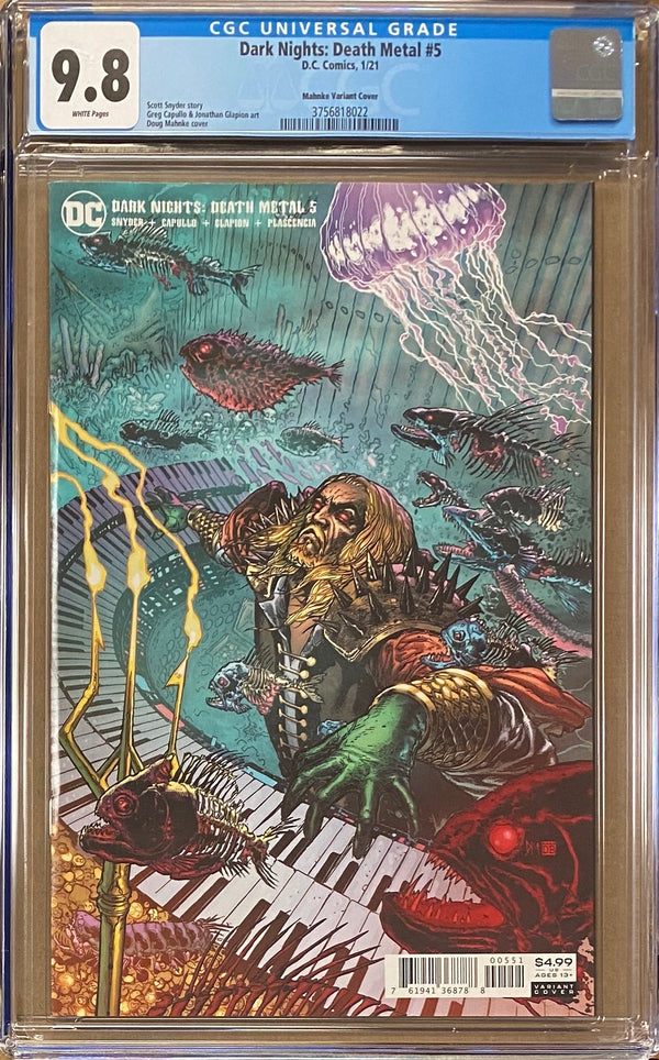 Dark Nights Death Metal #5 Mahnke Retailer Incentive Variant CGC 9.8