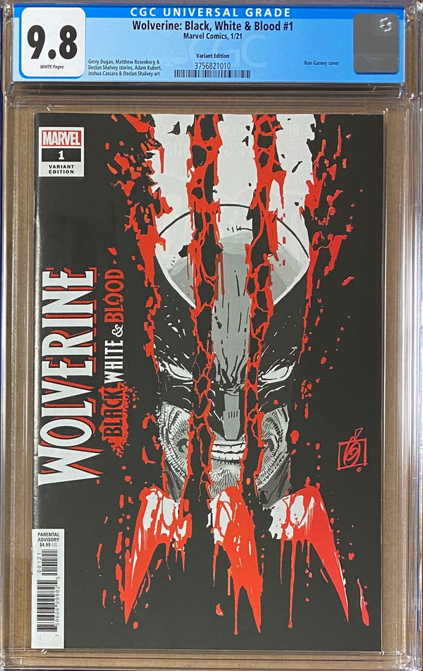 Wolverine: Black, White, & Blood #1 Garney Variant CGC 9.8