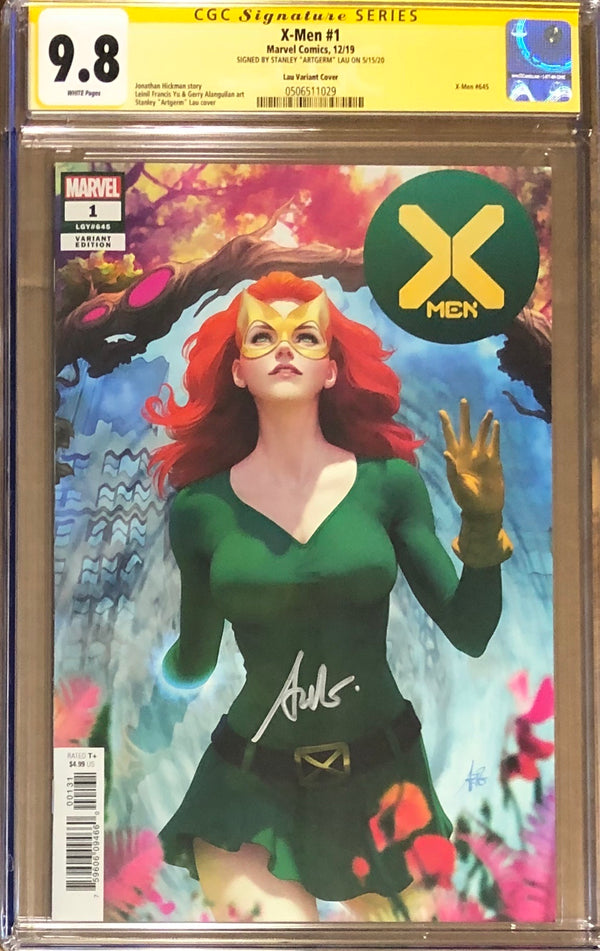 X-Men #1 Artgerm Variant CGC 9.8 SS - Dawn of X!
