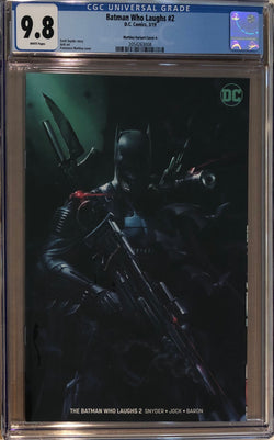 Batman Who Laughs #2 Mattina Minimal Trade Dress Variant CGC 9.8