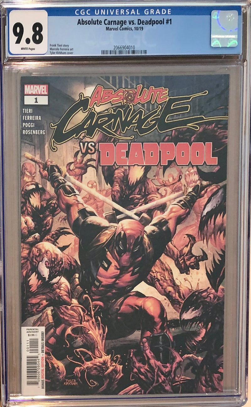 Absolute Carnage Vs Deadpool #1 CGC 9.8