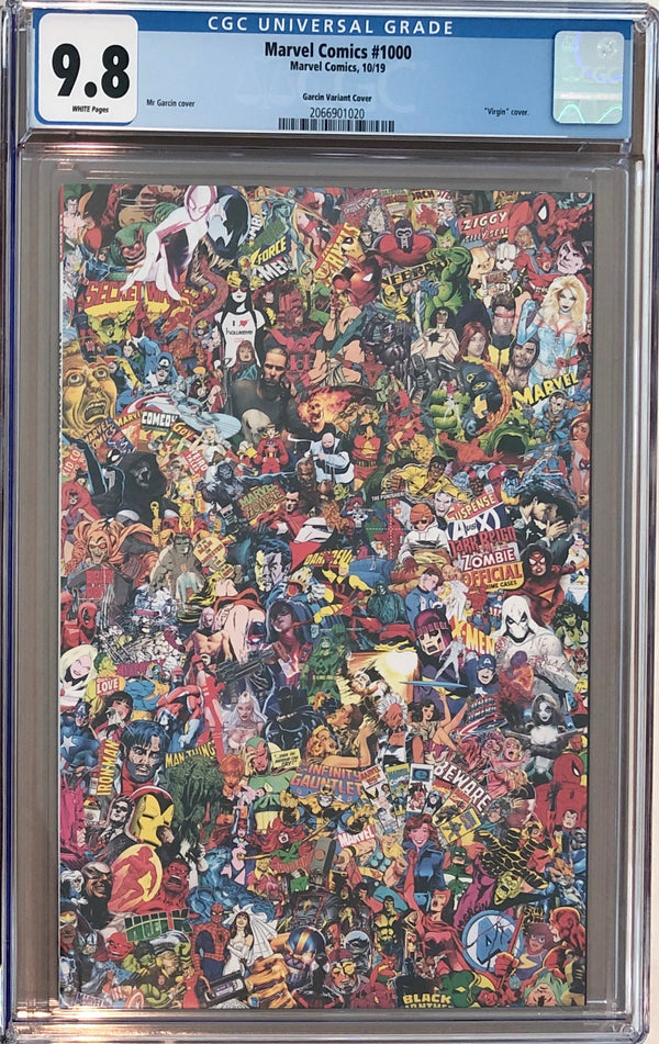 Marvel Comics #1000 Garcin Collage CGC 9.8