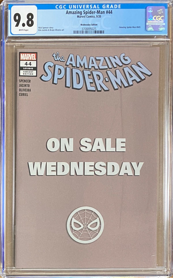 "Amazing Spider-Man #44 ""Wednesday"" Variant CGC 9.8"