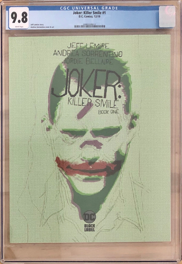 Joker: Killer Smile #1 DC Black Label CGC 9.8