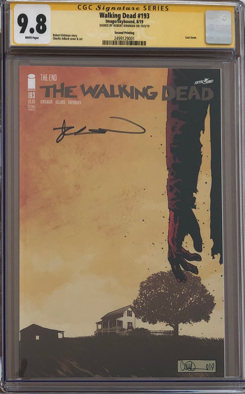 The Walking Dead #193 Second Printing CGC 9.8 SS - Final Issue!
