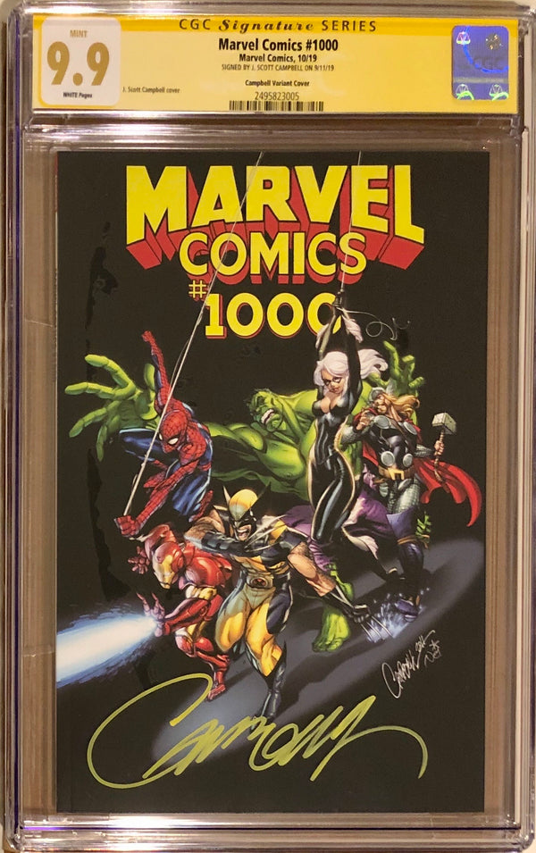 Marvel Comics #1000 J. Scott Campbell Variant CGC 9.9 SS
