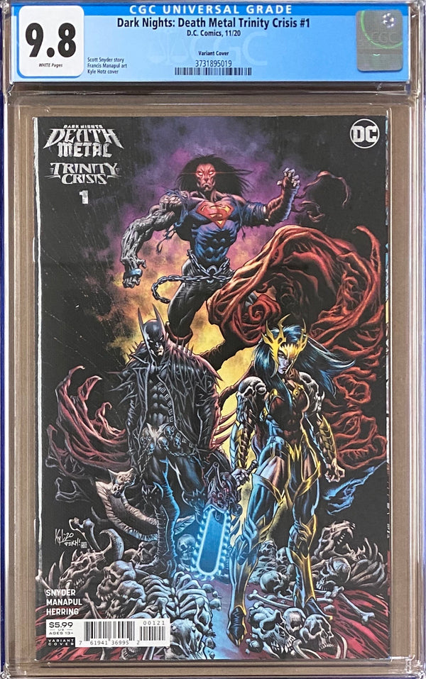 Dark Nights Death Metal: Trinity Crisis #1 1:25 Retailer Incentive Variant CGC 9.8
