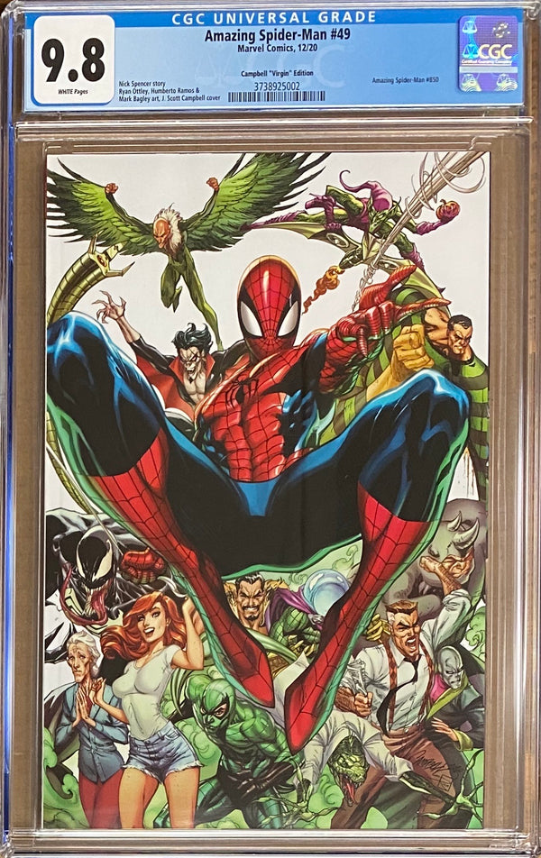 Amazing Spider-Man #850 (#49) Campbell 1:500 Virgin Retailer Incentive Variant CGC 9.8