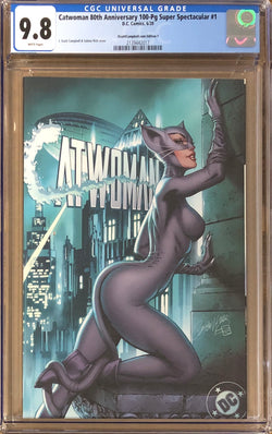 "Catwoman 80th Anniversary 100 Page Super Spectacular #1 J. Scott Campbell Exclusive F ""Year One"" CGC 9.8"