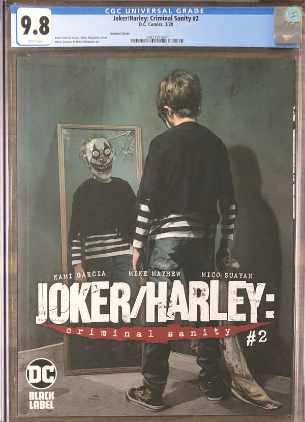 Joker/Harley: Criminal Sanity #2 Mayhew Variant Cover DC Black Label CGC 9.8
