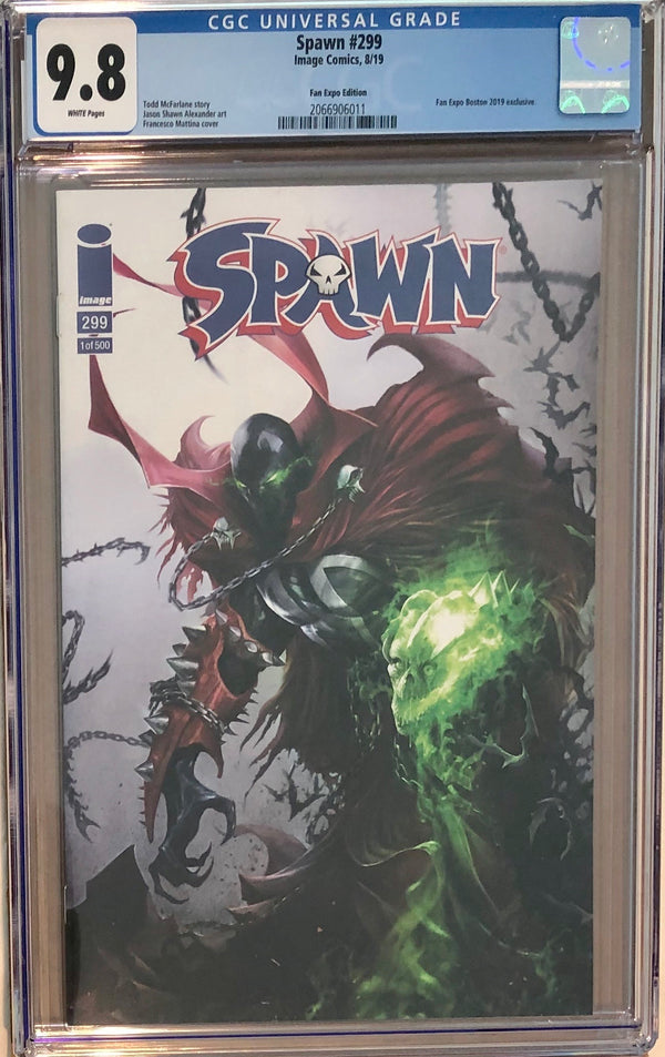 Spawn #299 Francesco Mattina Fan Expo Boston Variant CGC 9.8