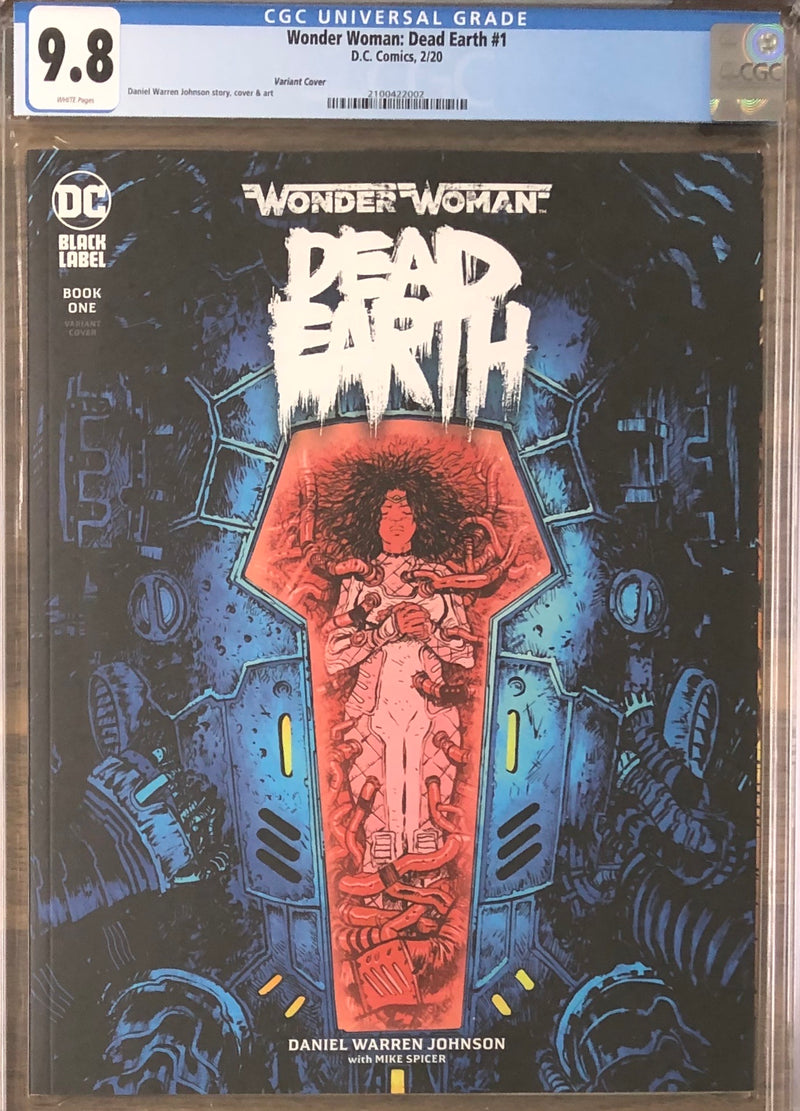 Wonder Woman: Dead Earth #1 Variant DC Black Label CGC 9.8