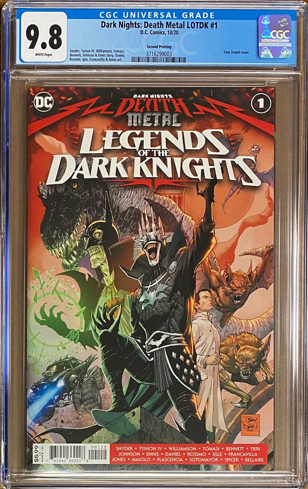 Dark Nights Death Metal: Legends of the Dark Knights #1 Second Printing CGC 9.8