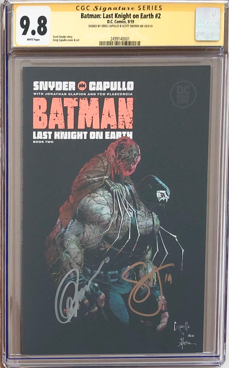 Batman: Last Knight On Earth #2 DC Black Label CGC 9.8 SS - Capullo & Snyder
