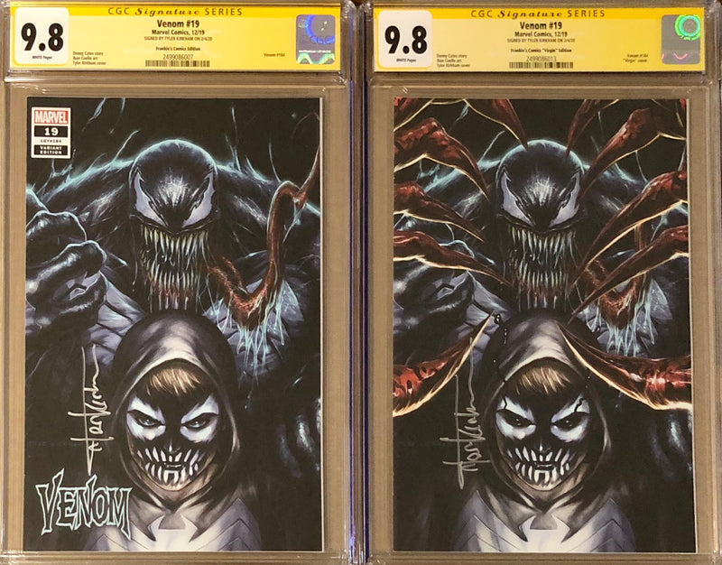 Venom #19 Tyler Kirkham BeachBum Comics Exclusive Regular/Virgin CGC 9.8 SS Set