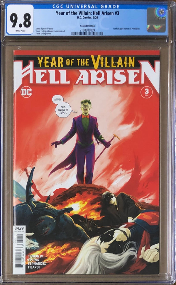 Year of the Villain: Hell Arisen #3 Second Printing CGC 9.8 - 1st Full Appearance Punchline