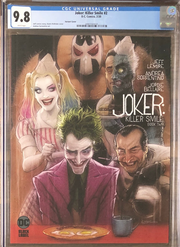 Joker: Killer Smile #2 Variant DC Black Label CGC 9.8