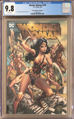 "Wonder Woman #750 J. Scott Campbell Exclusive A - ""Amazons"" CGC 9.8"