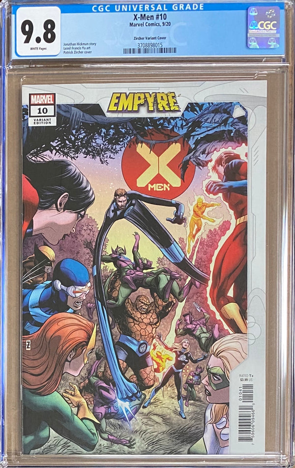 "X-Men #10 Zircher ""Confrontation"" Variant CGC 9.8 - Empyre"