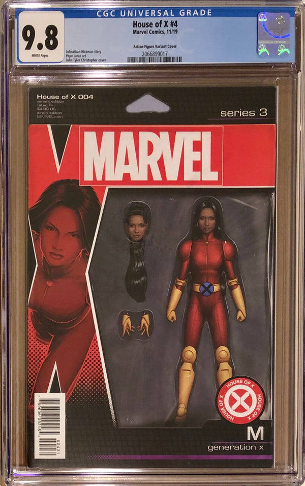 House of X #4 Action Figure Variant CGC 9.8