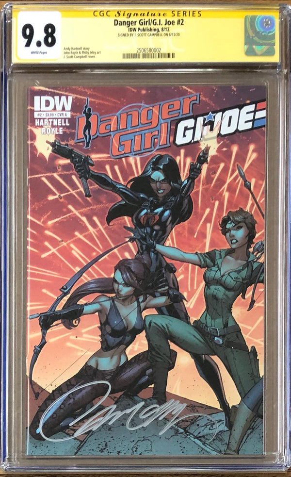 Danger Girl/G.I. Joe #2 CGC 9.8 SS