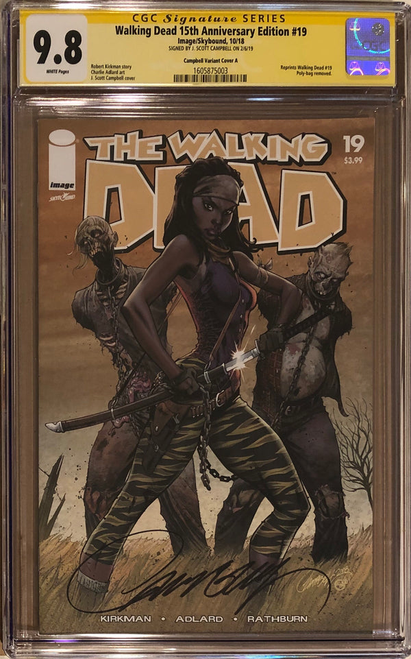 The Walking Dead #19 15th Anniversary Edition J. Scott Campbell Cover CGC 9.8 SS