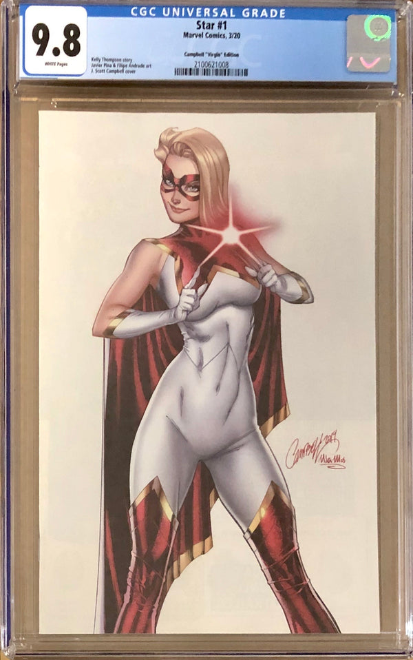 Star #1 J. Scott Campbell 1:200 Virgin Retailer Incentive Variant CGC 9.8