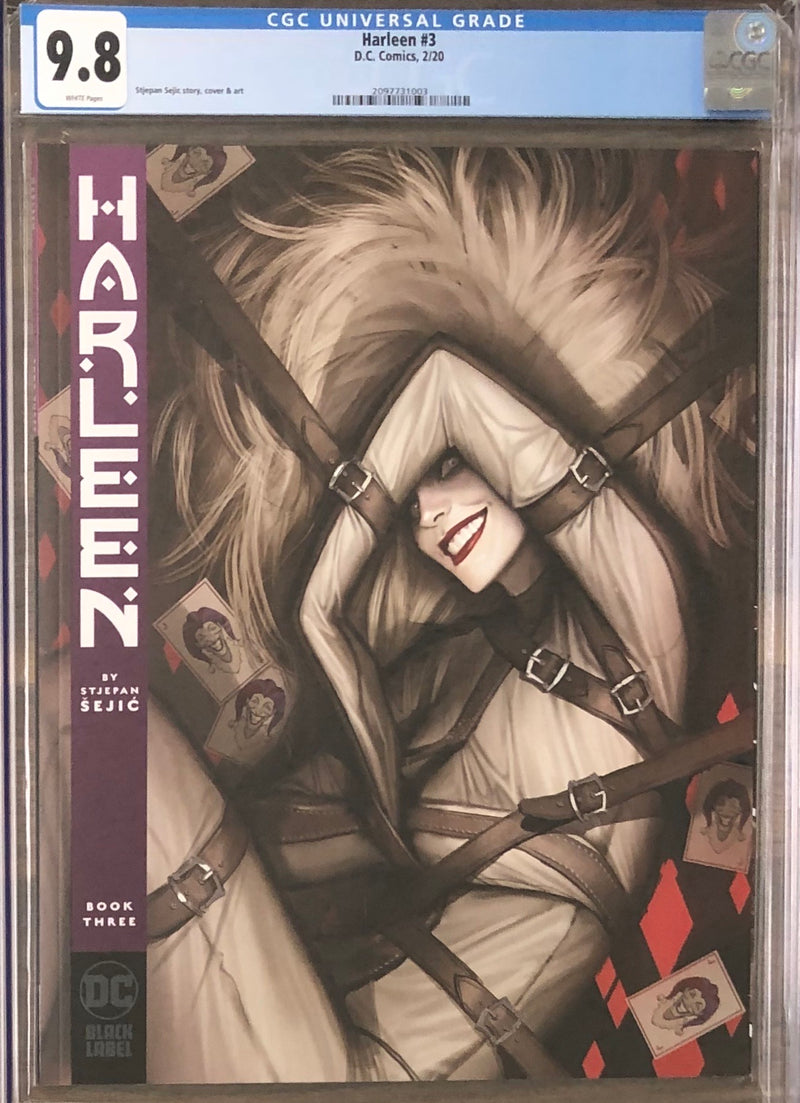 Harleen #3 DC Black Label CGC 9.8