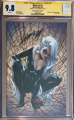 "Black Cat #1 J. Scott Campbell Exclusive F SDCC ""McFarlane Homage"" Virgin CGC 9.8 SS"