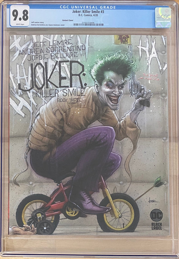 Joker: Killer Smile #3 Variant DC Black Label CGC 9.8