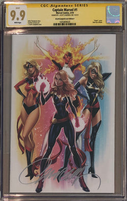 Captain Marvel #1 J. Scott Campbell Edition F ECCC Virgin Exclusive CGC 9.9 SS