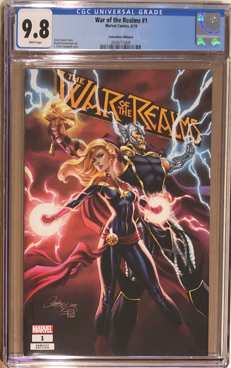 War of the Realms #1 Premium Package J. Scott Campbell Exclusive A CGC 9.8