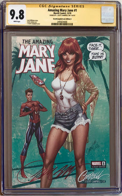 Amazing Mary Jane #1 J. Scott Campbell A - E Exclusives Set CGC 9.8 SS