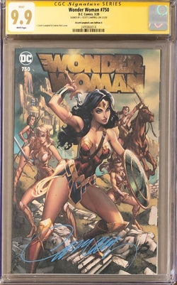"Wonder Woman #750 J. Scott Campbell Exclusive A - ""Amazons"" CGC 9.9 SS"