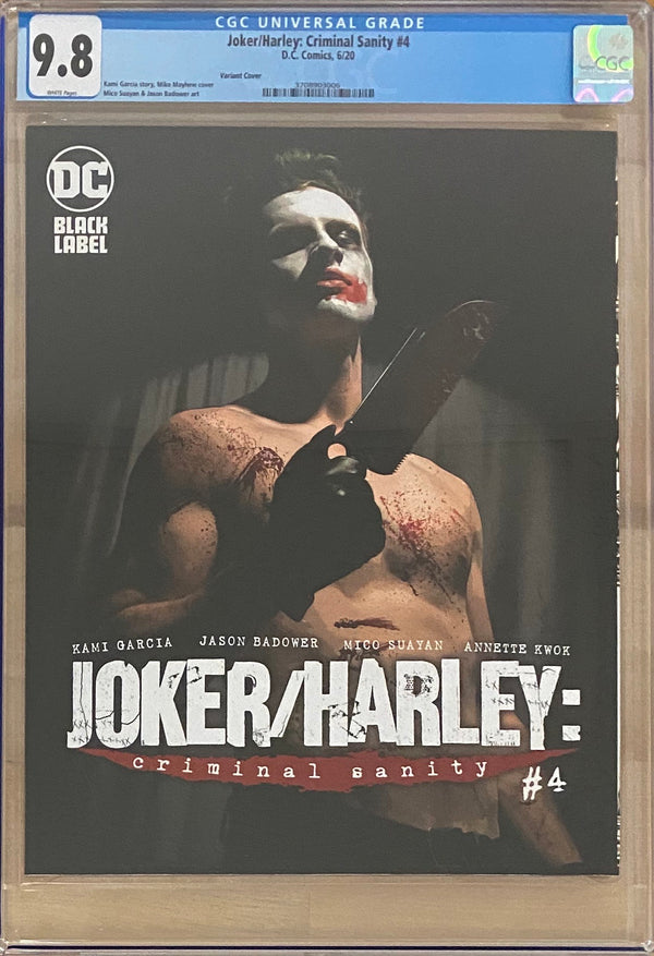 Joker/Harley: Criminal Sanity #4 Mayhew Variant Cover DC Black Label CGC 9.8