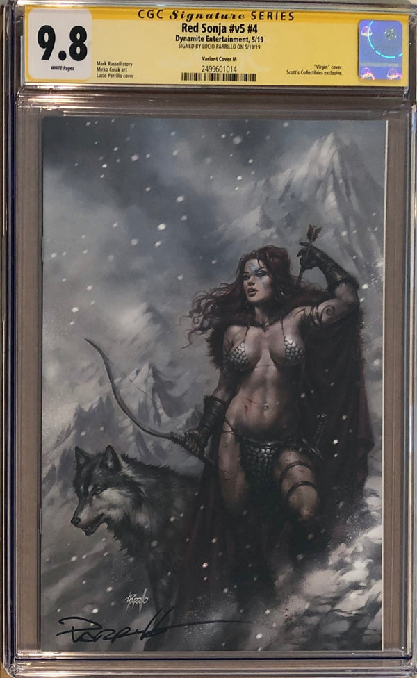 Red Sonja #4 Parrillo Convention Exclusive CGC 9.8 SS