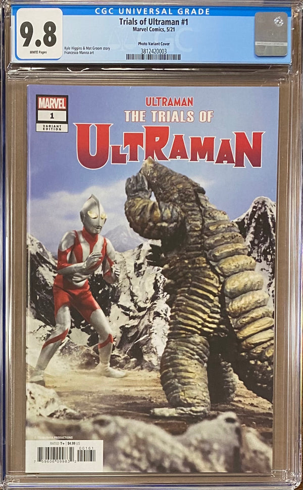 The Trials of Ultraman #1 Retailer Incentive Photo Variant CGC 9.8