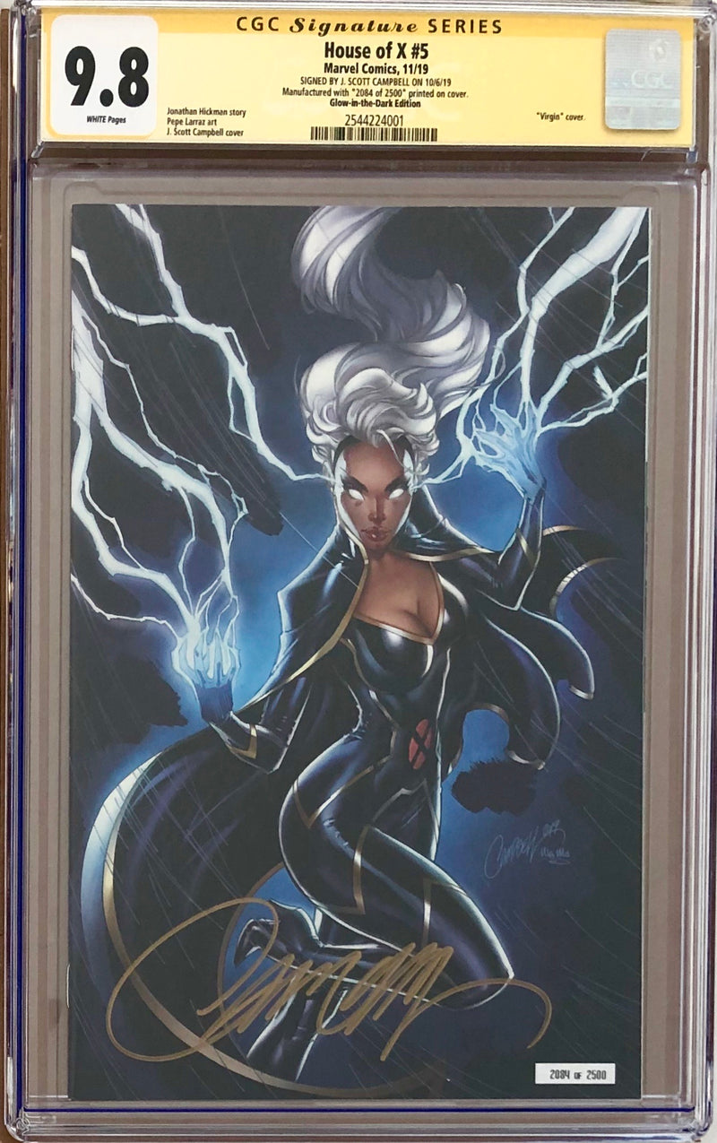 House of X #5 J. Scott Campbell NYCC Glow in the Dark Exclusive CGC 9.8 SS