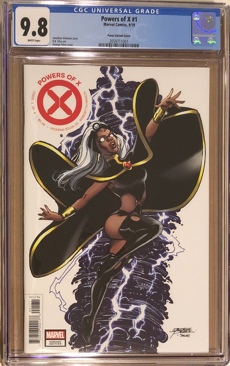 Powers of X #1 Perez 1:50 Variant CGC 9.8