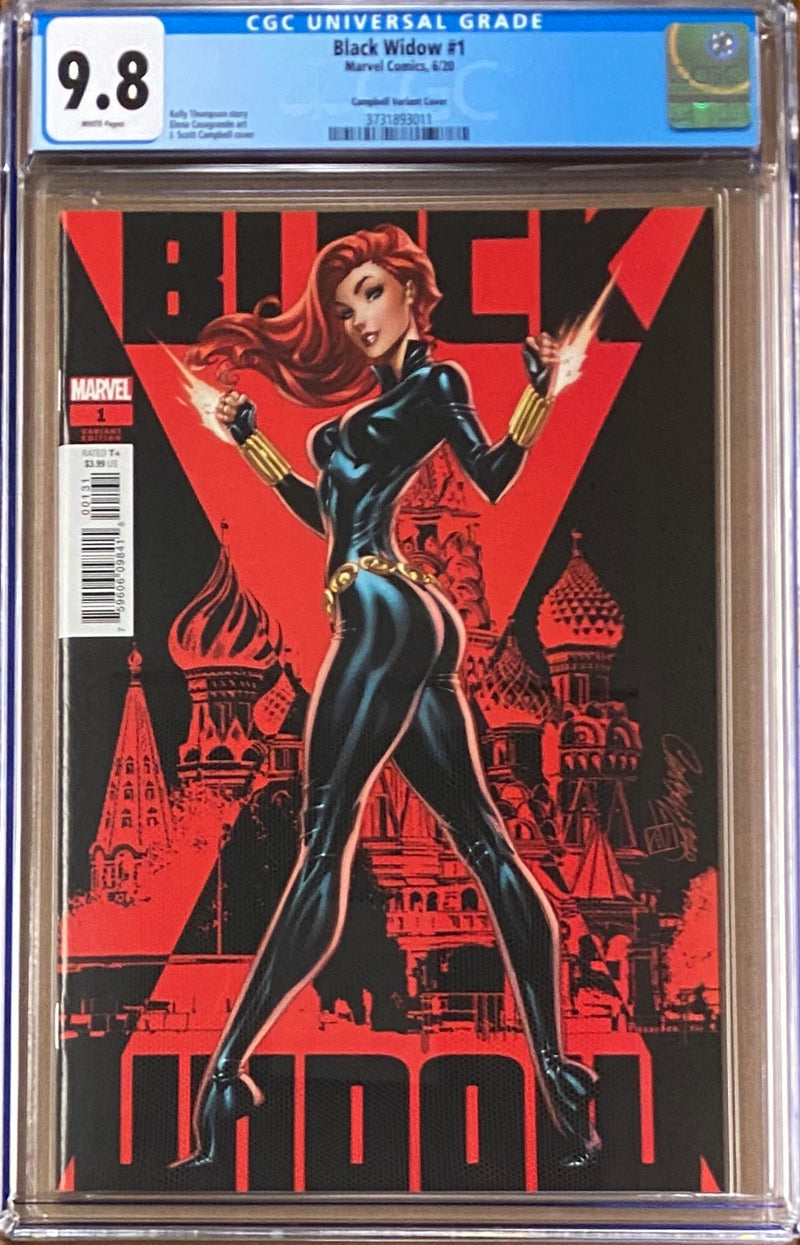 Black Widow #1 J. Scott Campbell Variant CGC 9.8