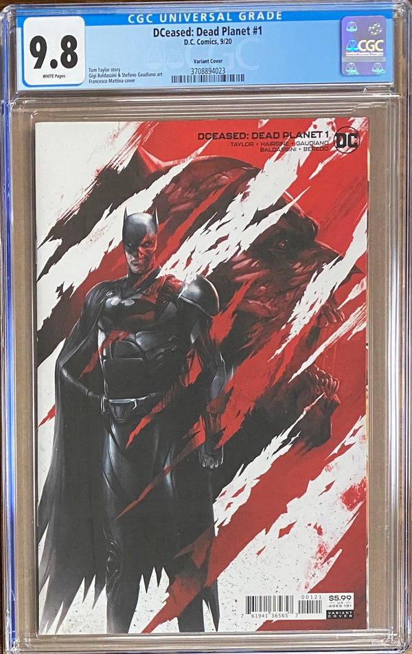DCeased: Dead Planet #1 Mattina Variant CGC 9.8