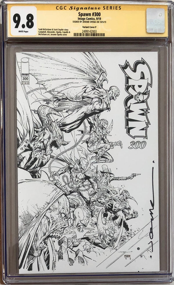 Spawn #300 Opena B/W Variant P CGC 9.8 SS