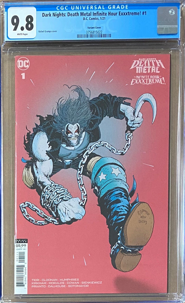 Dark Nights Death Metal: Infinite Hour Exxxtreme! #1 Retailer Incentive Variant CGC 9.8