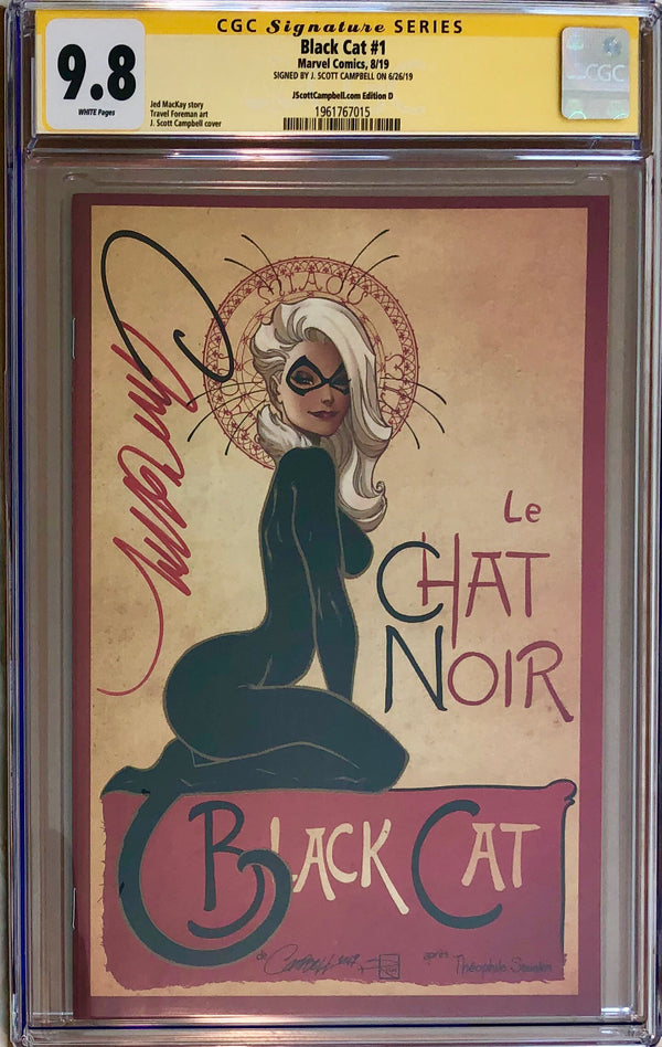 "Black Cat #1 J. Scott Campbell Exclusive D - ""Le Chat Noir"" CGC 9.8 SS"
