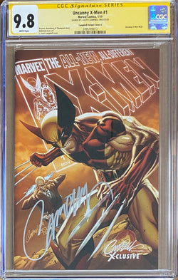"Uncanny X-Men #1 J. Scott Campbell Edition A ""Wolverine/Xavier"" Exclusive CGC 9.8 SS"