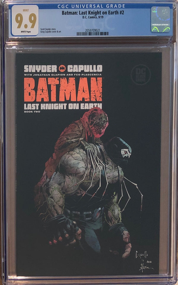 Batman: Last Knight On Earth #2 DC Black Label CGC 9.9
